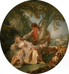 François Boucher: La siesta interrumpida (La sieste interrompue) (1750) (Metropolitan museum)