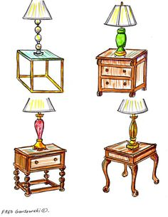 Matching the Right shaped End Table with a Table Lamp