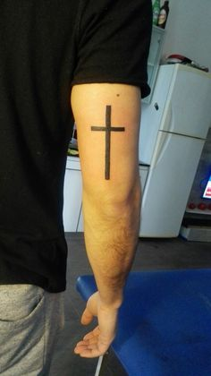 36 Simple Religious Tattoo Design for Men - Ide Tattoos Koi Tattoo Design, Cross Tattoo Designs, Tattoo Designs Men, Body Art Tattoos, New Tattoos, Sleeve Tattoos, Tattoos For Guys, Badass Tattoos, Temporary Tattoos