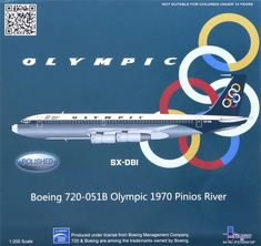 Olympic Airways B 720 maquette