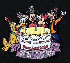 Disney Land Resort (DLR) - Disneyland 2000 Birthday Cake (Fab 5) Pin