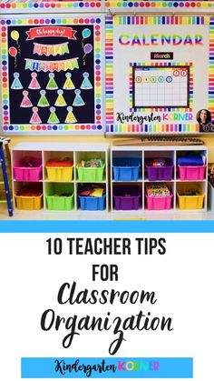 Here is everything you've wanted to know about classroom organization from Kindergartenkorner.com.  In this post, you will learn 10 teacher tips for creating a bright, inviting, and organized space!  Classroom management...Classroom theme...Classroom decor...#classroomorganization #kindergarten #classroomtheme #classroomdecor #classroommakeover Kindergarten Classroom Organization, Teacher Organization, Space Classroom, Teacher Hacks, Classroom Themes, In Kindergarten, Classroom Management, Organization Station, Preschool Classroom