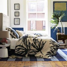 love the wall!..and of course the west elm bedding