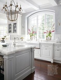 Antique White With Gray Color Kitchen Combo Kitchen 32 Best Antique White Kitchen Cabinets Home Decor Kitchen, Kitchen And Bath, New Kitchen, Home Kitchens, Kitchen Ideas, Awesome Kitchen, Updated Kitchen, Dream Kitchens, Kitchen Sinks