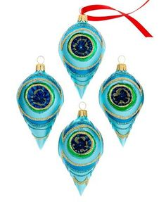 these are amazing! Kurt Adler Christmas Ornaments, Set of 4 Teal Peacock Drops - Holiday Lane - Macy's Peacock Christmas Tree, Peacock Ornaments, Christmas Tree Themes, Ball Ornaments, Christmas Traditions, All Things Christmas, Christmas Ideas, Xmas Trees, Holiday Ideas