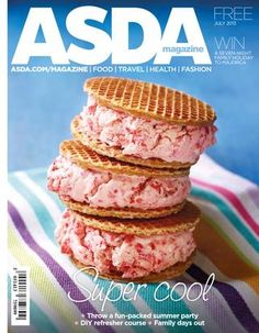 Asda Magazine - Ice cream sandwich using syrup waffles