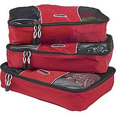 These packing cubes from eBags make traveling as a family MUCH easier!