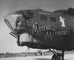 B-17G nose art Minnie the Mermaid