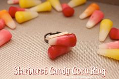 Halloween Crafts: Starburst Candy Corn Jewelry Tutorial #StarburstCandyCorn #sponsored