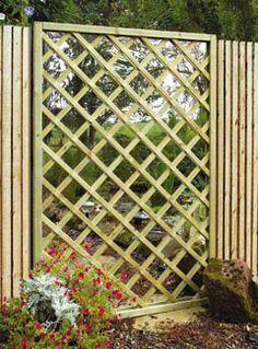 garden screen ideas | ... Garden Products » Garden Features » Lattice Garden Screen Mirror Lattice Garden, Garden Trellis, Garden Fencing, Garden Landscaping, Landscaping Ideas, Garden Mirrors, Mirrors In Gardens, Outdoor Mirrors Garden, Houses