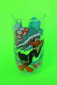 VINTAGE DAFFY DUCK drinking glass by surlymermaid on Etsy (Home & Living, Kitchen & Dining, Drink & Barware, glass, warner brothers, cartoon, cartoon character, collector series, warner bros, Loony Tunes, daffy, daffy duck, daffy the duck, duck, cartoon duck)