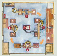 План - эскиз домашней мастерской столяра