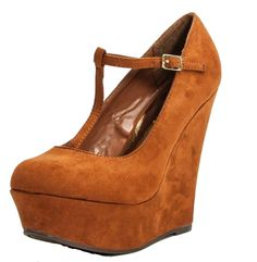 bbb4a9fc638 Amazon.com  Breckelles Women s Closed Toe Mary Jane T-Strap Wedges  Shoes