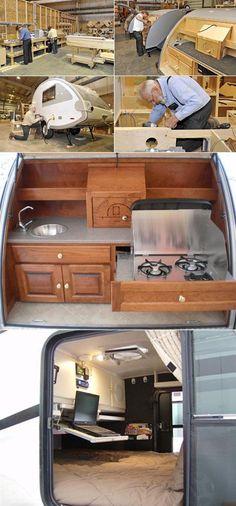 teardrop trailers fun way to travel--- love those little teardrops!