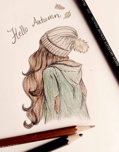 drawing hello autumn