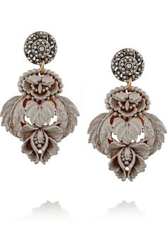 Lulu Frost | Katharine gold-plated, resin and Swarovski crystal earrings