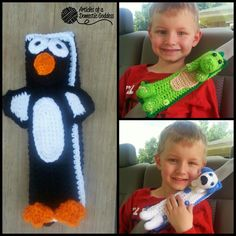 TRIPLE Pattern Release! Seat Belt Cover Travel Pals! Puppy, Penguin, Dragon-Dino | Articles of a Domestic Goddess