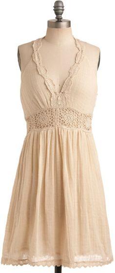 Modcloth Crochet Au Lait Dress in Pink (lait) | Lyst