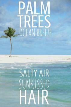 Palm trees, ocean breeze, salty air, sun kissed hair. That ...