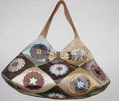 Handmade Ribbon Embroidery Handbag Should Bag >>> Visit the image link more details.