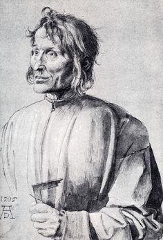 Portrait of Architect Hieronymus von Augsburg by Albrecht Dürer Albrecht Durer, Maximilian I, Jan Van Eyck, Renaissance Artists, Portrait Sketches, Poster S, Art Database, Italian Artist, Gouache