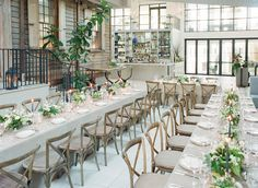 La Tavola Fine Linen Rental: Velvet Beige | Photography: Corbin Gurkin, Event Design: Easton Events, Florals: Stems, Venue: Cannon Green