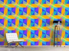 Design #Tapete Fenster Geometrie