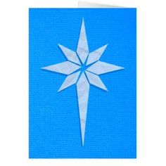 Star of Bethlehem Christmas Card (Blue) - craft diy cyo cool idea Christmas Crafts For Gifts For Adults, Arts And Crafts For Adults, Arts And Crafts House, Homemade Christmas Cards, Crafts For Boys, Arts And Crafts Supplies, Diy Arts And Crafts, Paper Crafts, Holiday Crafts