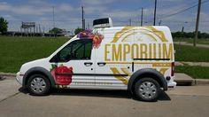Ford Transit with custom-designed SkinzWrap for Emporium Pies, Dallas TX Van Wrap, Ford Transit, Custom Vinyl, Dallas, Custom Design, Wraps, Trucks, Gallery, Car