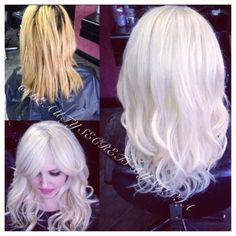 This is a before after she went from brassy blonde to platinum before after color correction to white blonde and track hair extensions by silvia pmusecretfo Image collections