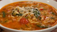 Spinach & Tomato Risoni Soup | Good Chef Bad Chef