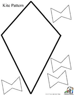 Kite pattern. Use the printable outline for crafts, creating ...