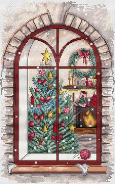 Xmas Cross Stitch, Just Cross Stitch, Cross Stitch Needles, Counted Cross Stitch Patterns, Cross Stitch Kits, Cross Stitch Designs, Cross Stitching, Cross Stitch Embroidery, Christmas Arts And Crafts