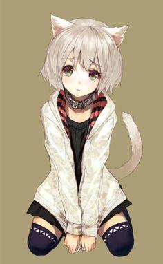 ❤٩(๑•◡-๑)۶❤ Neko anime girl