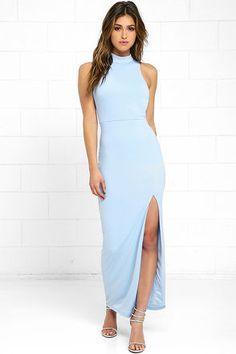 Engraved Initials Light Blue Maxi Dress at Lulus.com!