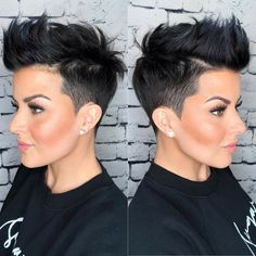 Pixie Hairstyles, Pixie Haircut, Black Women Hairstyles, Wedding Hairstyles, Cool Hairstyles, Hairstyles Videos, Men's Hairstyle, Weave Hairstyles, Corte Y Color