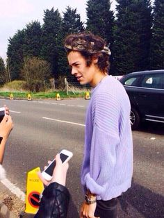 Purple sweater baby.