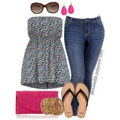 """#plus #size #outfit  """"Plus Size - Casual Day"""" by alexawebb on Polyvore"""