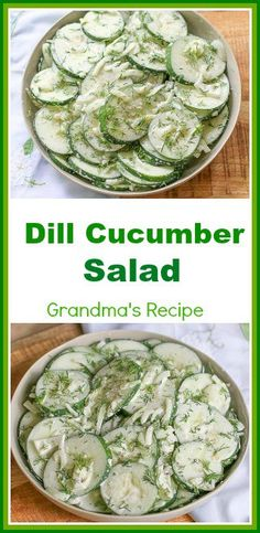 Hypoallergenic Pet Dog Food Items Diet Program Create This Fresh Creamy Dill Cucumber Salad With Mayonnaise In Under 10 Minutes. Made With Just A Few Ingredients, It Makes The Perfect Side Dish For Any Meal. Dill Salad Recipe, Cucumber Dill Salad, Creamy Cucumbers, Salmon Salad, Veggie Side Dishes, Vegetable Dishes, Easy Salads, Easy Meals, Season Fruits And Vegetables