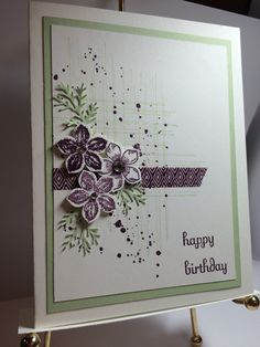 Gorgeous Grunge, Petite Petals, Fabulous Phrases with Pistachio and Blackberry Bliss **photo only