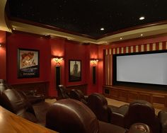 Love this color for the theater room