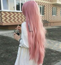 Type: Brazilian Hair, Human Hair Suitable Dying colors: All Colors Texture: Straight Color: Pink Material Grade: Remy Hair Length: Long Wigs Base material: Swiss Lace Type: Lace Front Wig Wigs Can be permed: yes Long Pink Hair, Pastel Pink Hair, Pink Wig, Light Pink Hair, Lilac Hair, Gray Hair, Top Hairstyles, Pretty Hairstyles, Scene Hairstyles