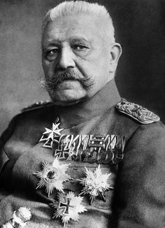 FELDMARSCHALL PAUL VON HINDENBURG c1918: A portrait of Von Hindenburg (1847-1934), German Field Marshal and President (1925-1934). During the First World War he directed German military strategy with the able Ludendorff (1916-1918).