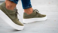 separation shoes 28d28 f2ca9 Nike air force 1 suede olive green