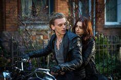 dziewczyna, motor, chłopak, miłość, razem