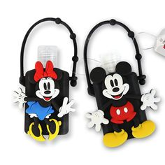Portable Disney Hand Sanitizers with Mickey and Minnie Holders