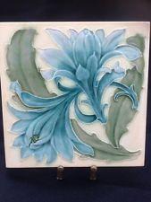 Pilkington Art Nouveau Majolica Tile - Lewis F Day Design - circa 1900 Tile 2 Motifs Art Nouveau, Azulejos Art Nouveau, Art Nouveau Tiles, Art Nouveau Design, Antique Tiles, Antique Art, Ceramic Tile Art, Art Tiles, Color Palette From Image