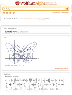 Otra maravilla que llega desde Wolfram Alpha: figuras con fórmulas matemáticas - Another marvelous thing from Wolfram Alpha : Drawing with math formulas