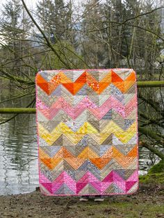 Baby Chevron Quilt (with general instructions) | Making More with Less