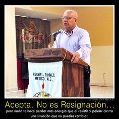 Acepta... No es resignación...